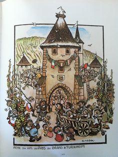 Fête du vin à Turckheim par Eugène Noack