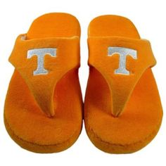 Happy Feet - Tennessee Volunteers - Comfy Flop Slippers - Large Happy Feet. $16.99
