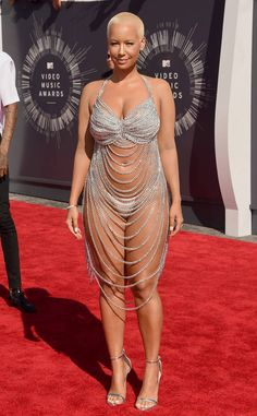 Amber Rose - 2014 MTV Video Music Awards in Inglewood, Amber Rose Style, Outfits and Clothes. Amber Rose 2014, Amber Rose Style, Curvy Celebrities, Celebs, Plus Size Blog, Nicki Minaj Photos, Star Fashion, Fashion Outfits, Traditional Indian Jewellery
