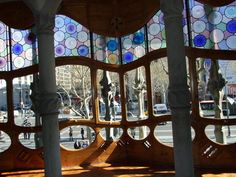 Stained glass and wood