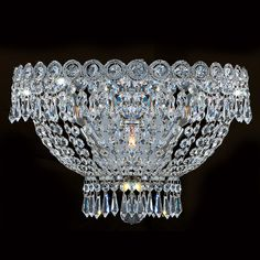 """View the Worldwide Lighting W23020C16 Empire 3 Light 16"""" Wall Sconce in Chrome with Clear Crystals at LightingDirect.com."""