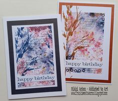 Infusions/Lin Brown PaperArtsy Stamps by Nikki Acton