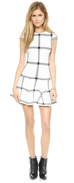 Not sure if I have the legs for this but wow, love this alice + olivia plaid dress. (Maybe with opaque stockings?)