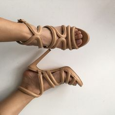 """Zara nude sandals with heel size 7.5 Nude sandals with heel from Zara. Leather. Worn a few times, in great condition. Size 38, fits 7.5. Approx 0.5"""" platform and 4.75"""" heel. Comfy! No trades, no pp, no exceptions!!! Zara Shoes Heels"""