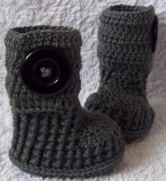 Crochet Baby Boots baby by chcem