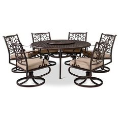 Take Outdoor Living To The Next Level With This Folwell Cast Aluminum Patio  Dining Set From Threshold. The Patio Chairs Swivel And Rock And Feature  Unique ...