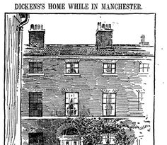 When visiting Manchester, Charles Dickens stayed with his sister Fanny who lived with her husband at 3 Elm Terrace, Higher Ardwick.