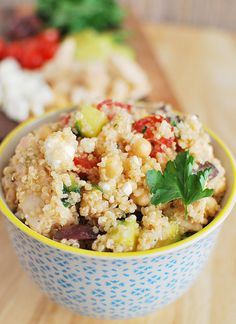 Greek Quinoa and Grilled Chicken Salad