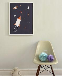 Lámina cohetes 50x70 - Deco & Living