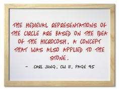 The medieval representations of the circle are based on the idea of the microcosm, a concept that was also applied to the stone.