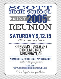 High school class reunion card high school classes custom high school reunion postcard invitation by tangerinepaperie stopboris Image collections