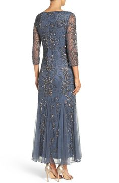 MyChicPicks - Pisarro Nights Embellished Mesh Gown - Find and compare your style across the world's leading online stores! Mother Of Bride Outfits, Mother Of Groom Dresses, Mothers Dresses, 1920s Formal Dresses, Mob Dresses, Wedding Dresses, Ladies Dresses, Bride Dresses, A Line Gown