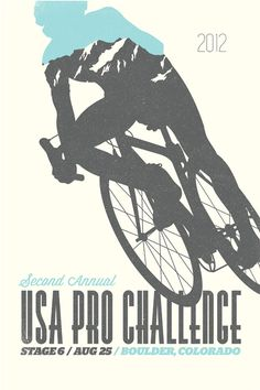 USA Pro Challenge Stage 6 Poster (blue) by Denver designer Sean Herman http://www.behance.net/SeanHerman