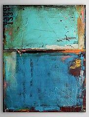 Pintada a mano Abstracto Pinturas de óleo,Clásico / Modern Un Panel Lienzos Pintura al óleo pintada a colgar For Decoración hogareña
