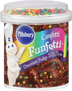 Just two tablespoons of Pillsbury Confetti Funfetti Chocolate Fudge Frosting contain mg of artificial food dyes. Crisco Recipes, Kraft Recipes, Fudge Flavors, Confetti Cupcakes, Chocolate Fudge Frosting, Chocolate Babies, Cupcake Icing, Baking Supplies, Pillsbury