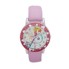Cute Rainbow Silhouette Heart Moon Key With Locket Watches