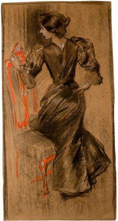 Clotilde de Sorolla Spanish Painters, Spanish Artists, Artist Painting, Painting & Drawing, Illustrations, Illustration Art, Contemporary History, Orange Art, Vintage Drawing