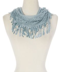 Look what I found on #zulily! Light Blue Lace Infinity Scarf #zulilyfinds