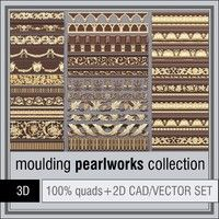 Pearlworks Moulding collection Model available on Turbo Squid, the world's leading provider of digital models for visualization, films, television, and games.