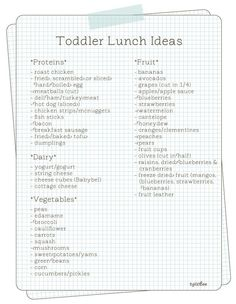 Toddler Lunch Ideas...because all they ever want is a peanut butter sandwich!