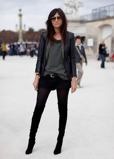 Black and leather and studs - Love it