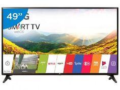 """Smart TV LED 49"""" LG Full HD 49LJ5550 webOS - Conversor Digital 1 USB 2 HDMI com as melhores condições você encontra no Magazine Nivaldo. Confira!"""