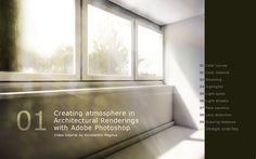 Adobe Photoshop - Creating Atmosphere in Architectural Renderings Tutorial