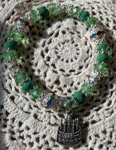Happy Birthday Hope Angel Bracelet in Light Greens by HopeAngelBracelets