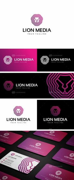 Lion Group Logo on @codegrape. More Info: https://www.codegrape.com/item/lion-group-logo/16535