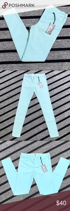 L'AGENCE Pale Blue Straight Leg Jeans (26) NWT BRAND NEW WITH TAGS pale baby-blue colored straight leg / skinny jeans made by L'AGENCE. Women's size 26; SUPER soft and comfortable fabric with a bit of stretch to them. 98% cotton, 2% elastane. L'AGENCE Jeans