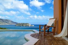 Sit and Relax at the Domes of Elounda on the Island of Spinaloga in Crete..What a Fantastic View... pinned with Pinvolve