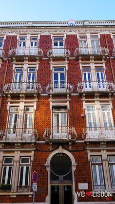 Lisbon tiled façades