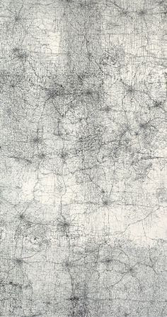 makes me think of a map. or neural pathways. compelling. by Guillermo Kuitca