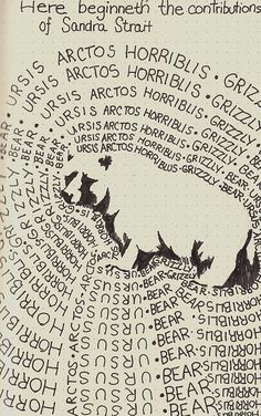 Ursis Arctis Horriblis Grizzly by molossus, who says Life Imitates Doodles, via Flickr