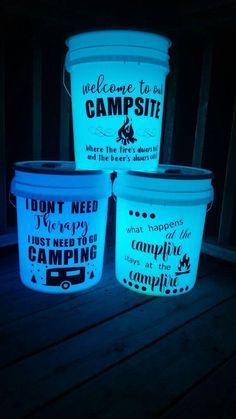 Light up camp bucket Night light camping bucket multi-light camping tshirts, lake camping hacks, camping hacks tent Camping Hacks With Kids, Camping Bedarf, Camping Needs, Camping Lights, Camping Checklist, Camping Essentials, Family Camping, Outdoor Camping, Camping Stuff