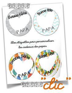 Les étiquettes pour les cadeaux des Papas