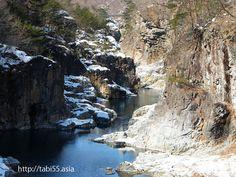冬の龍王峡(栃木県日光市)