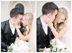 Husband and wife first kiss | Brooke Bakken | Utah Wedding Photographer