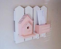 Birdhouse Mail Holder