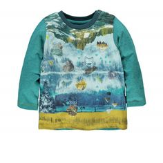 Long Sleeve T-shirt / T-shirt à manches longues Bleu à motifs Souris Mini