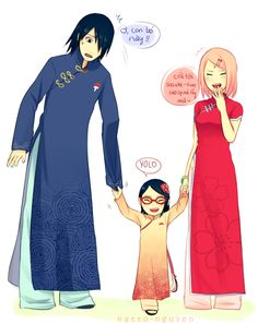 Sasuke - Dressing Up With His Girls