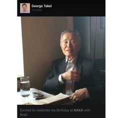 George Takei celebrated his birthday at Naka today that's pretty amazing  Today is definitely a good day. And I thought my taco bell snap was awesome... But this is just awesomer  Stop by and let the crew take care of ya!  Naka 1449 E Pine St Seattle WA 98122 by ultramaly