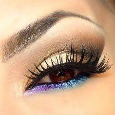 Do you like this beautiful eye makeup idea?
