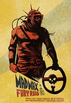"""francavillarts: """" MAD MAX FURY ROAD Art by Francesco Francavilla Probably not the last Mad Max inspired art you will see from me this week ;) Cheers, FF """""""