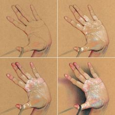 Anatomy Drawing, Anatomy Art, Human Anatomy, Hand Fotografie, Hand Kunst, Art Sketches, Art Drawings, Poses References, Toned Paper