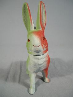 Vintage Antique Easter Papier Mache Rabbit Candy Container Germany | eBay