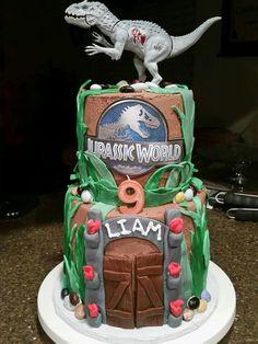 Jurasic world birthday cake