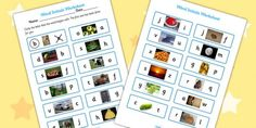 Initial Sounds Photo Worksheet