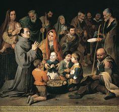 San Diego de Alcalá dando de comer a los pobres, por Bartolomé Esteban Murillo (1646)