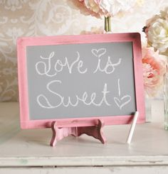 Wedding Chalkboard Sign Shabby Chic item P10221 by braggingbags, $21.50